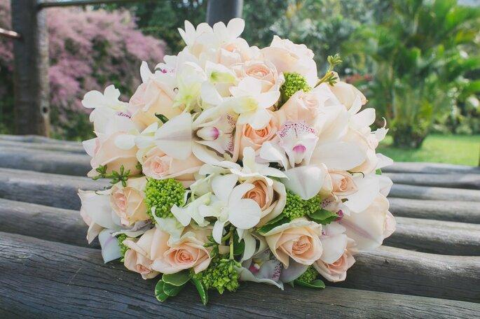 buquê redondo de noiva