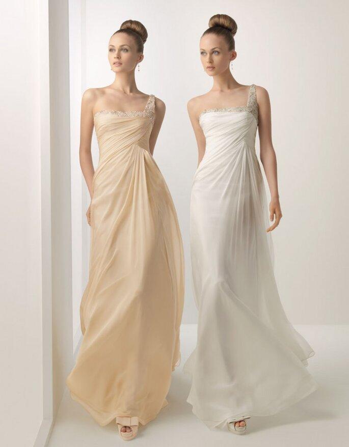 Vestidos de novia que estilizan la figura. Foto: Rosa Clará