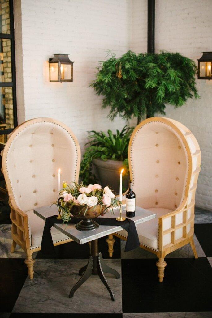 Mobiliario con diseños originales para decorar tu boda - Foto Marissa Moss