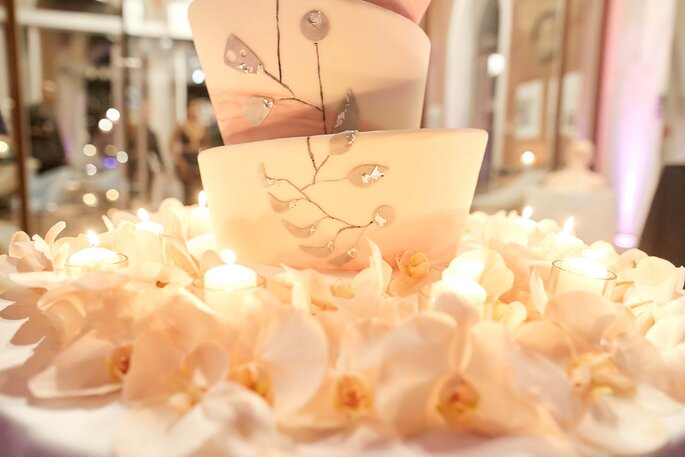 Torta nuziale a più piani per un matrimonio a Venezia