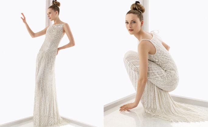 Vestido de novia inspirado en los años 20. Foto: Rosa Clará
