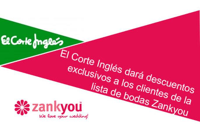 La empresa Zankyou dará descuentos a sus clientes en El Corte Inglés.