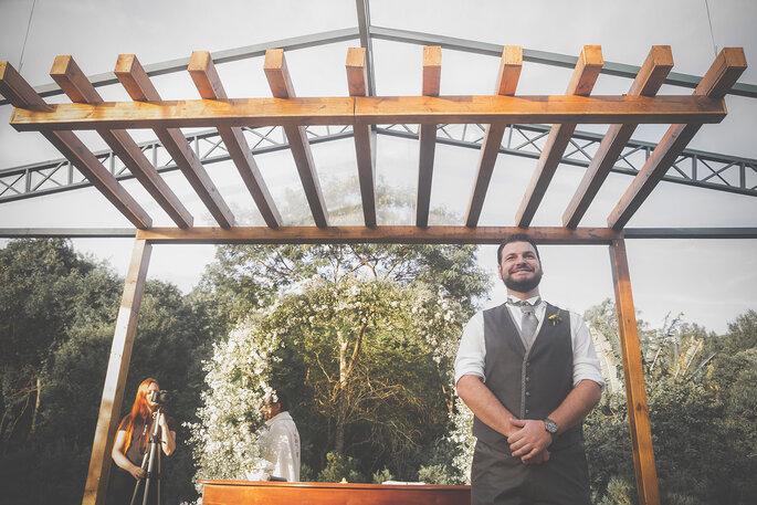 Noivo no altar