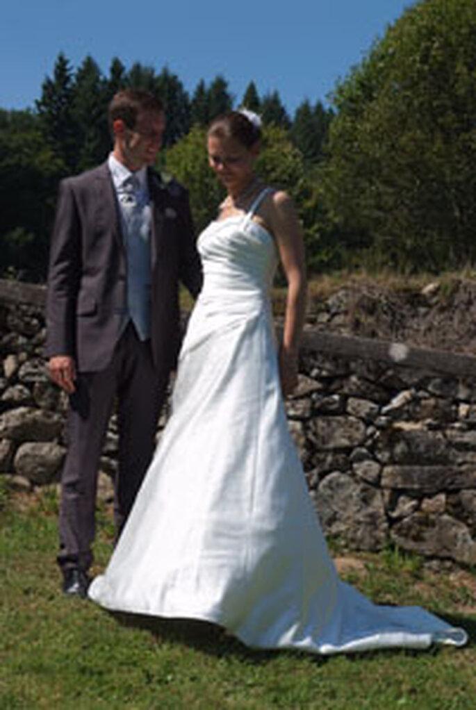 Los recién casados Vincent y Nathalie