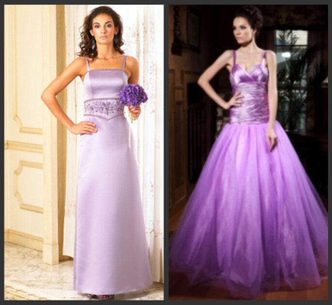 Lila Brautkleider - Trend in der Brautmode