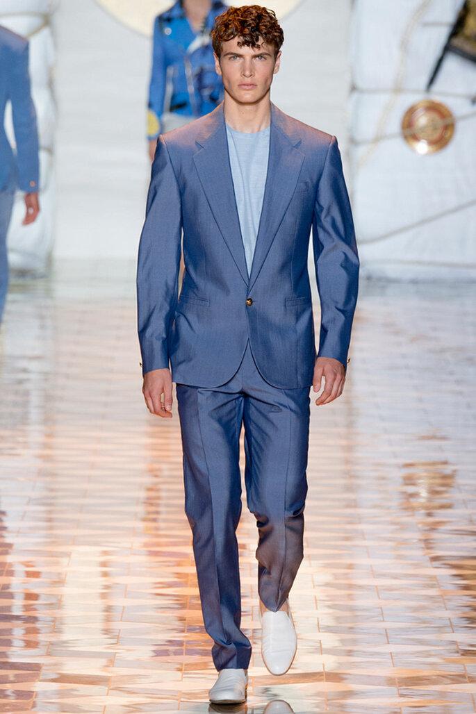 Tendencias masculinas para los novios del 2015. Foto: Versace