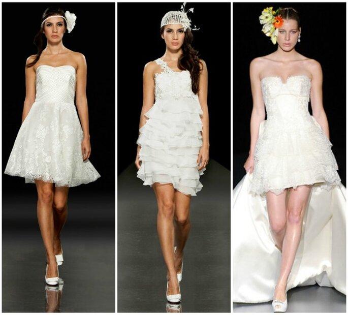 Vestidos de novia cortos. Fotos: Francesca Miranda y Ana Torres