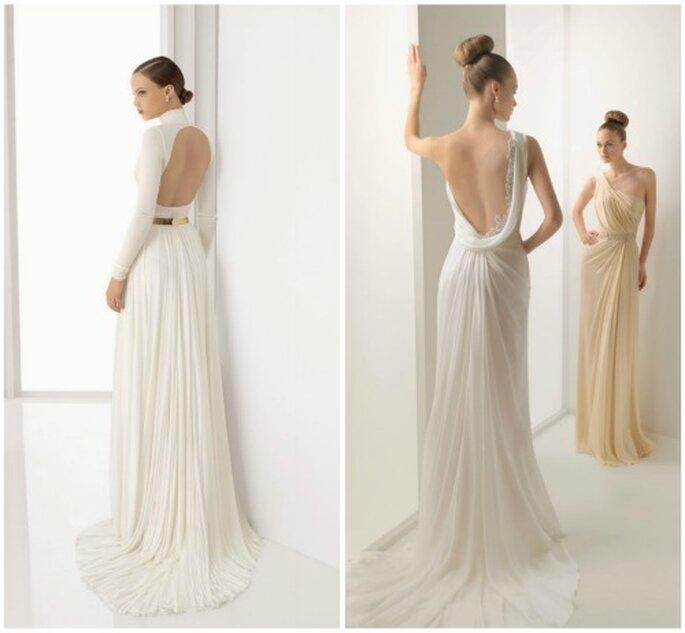 Sensuales vestidos de novia con la espalda al descubierto. Foto: Rosa Clará