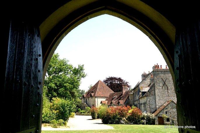 Le Domaine de Laumondière vu depuis l'intérieur.