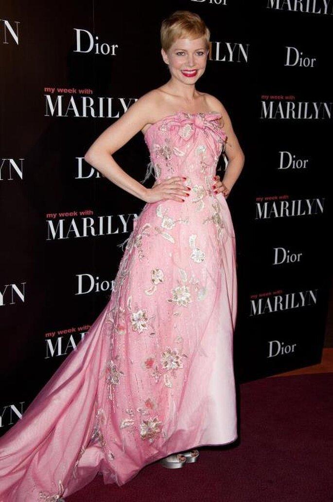 Vestidos de gala estilo ombré - Foto Christian Dior Facebook