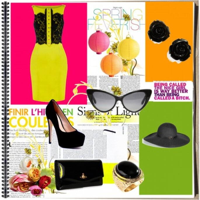 vestido: Cyfashion.com, zapatos: Sienshoes.com, Bolso: Vivienne Westwood lentes: Tom Ford, anillo: H&M
