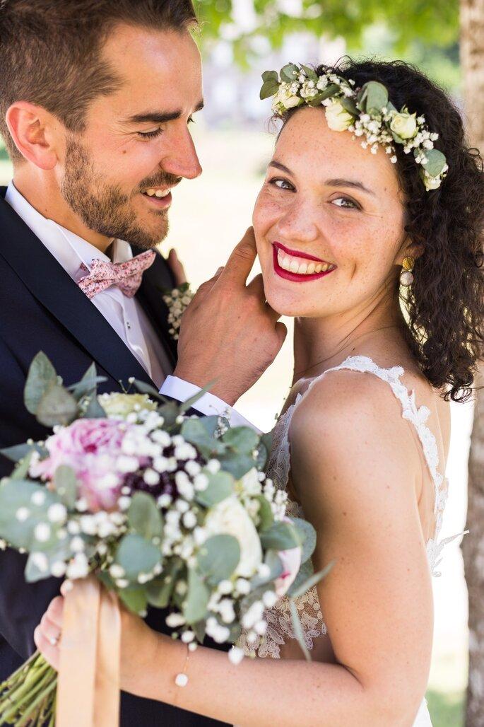 Photographie de couple lors de leur mariage