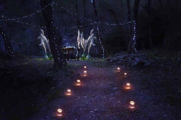 Martina Di Palma eventi green - atmosfera notturna romantica nella natura