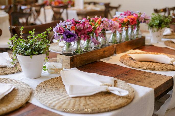 Linda mesa para casamento na praia