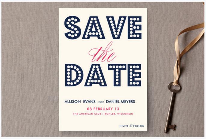 Los Save the Date más originales - Foto Minted