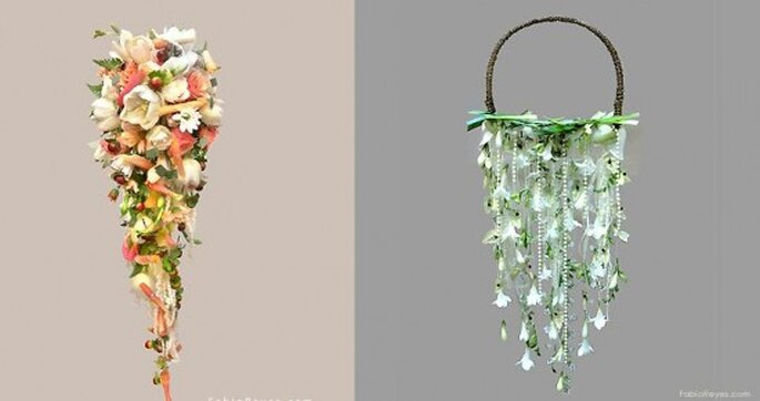 Ramos de novia.Foto de Favio Reyes, diseño en flores.
