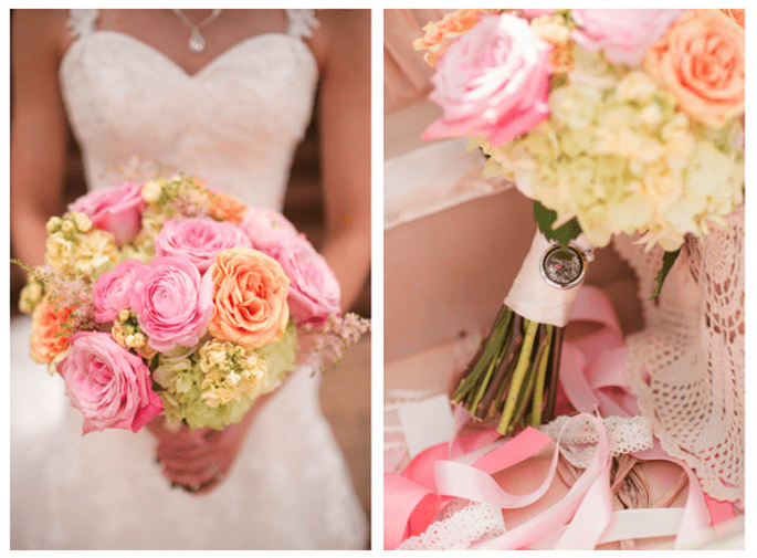 pastelowy bukiet z róż