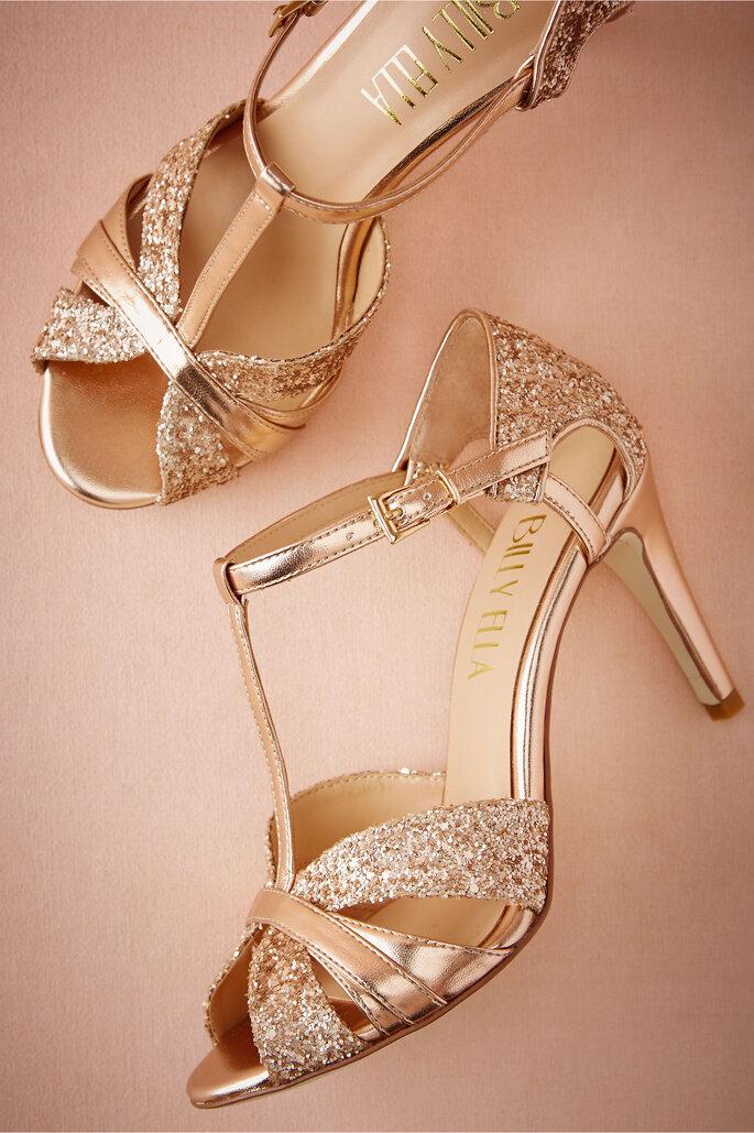 Sandalias de novia en tonos metalizados
