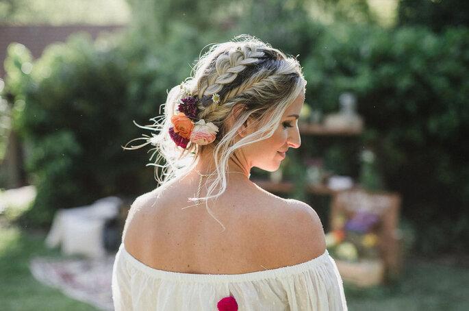 penteado noiva preso com tranças