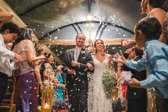 Buquê da noiva em cascata