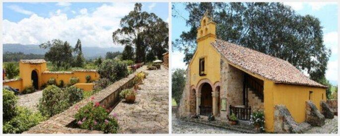 Capilla y parte del edificio del Hotel Hacienda del Salitre. Fotos: www.tripadvisor.es