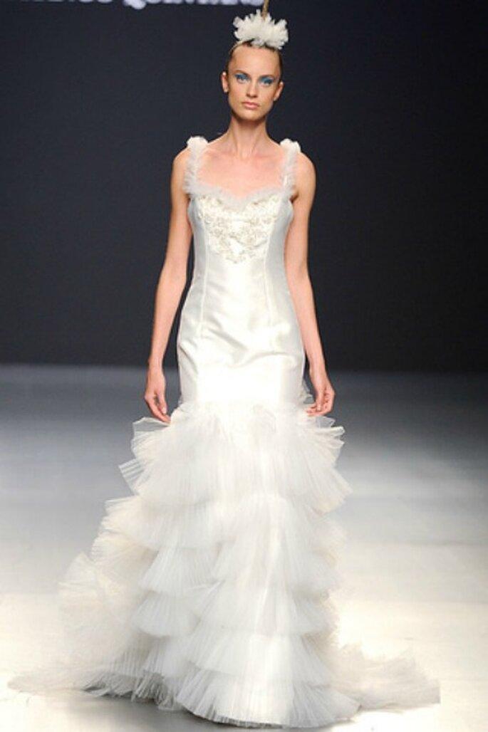 En los vestidos de novia Franco Quintáns 2012 las faldas adquieren un gran protagonismo - Tomy Pelluz / Vogue