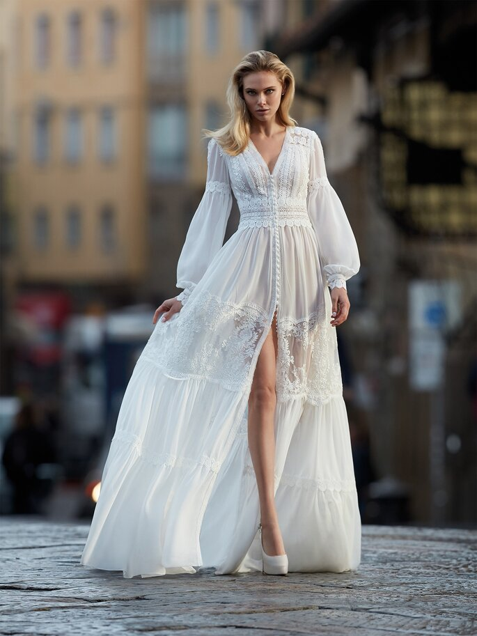 Vestidos de novia mujeres bajitas
