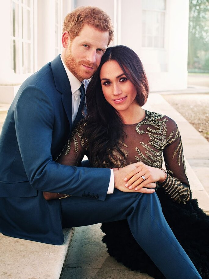 Prince Harry and Ms Meghan Markle's official engagement photo (Photographer: Alex Lubomirski)