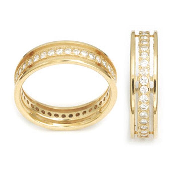 Alliance en or tour complet et diamants - Maison de l'Alliance