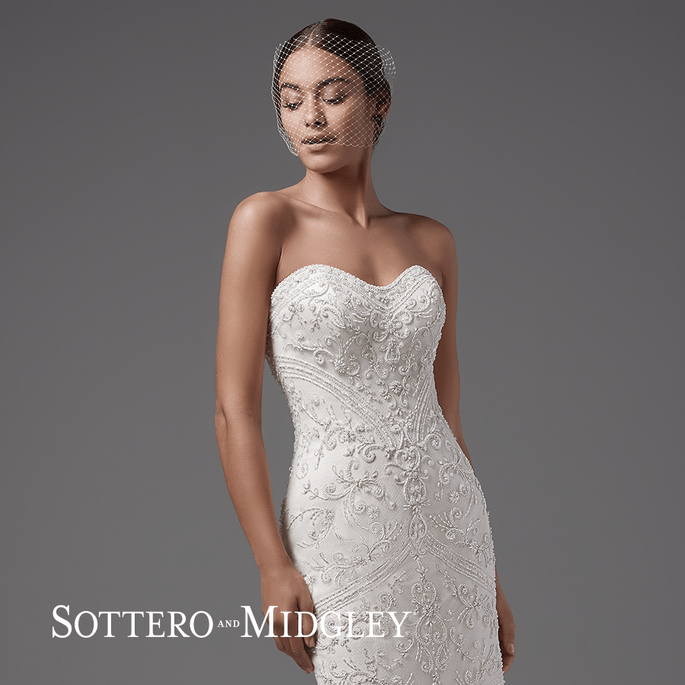 Topaz. Sottero and Midgley: Arleigh Collection