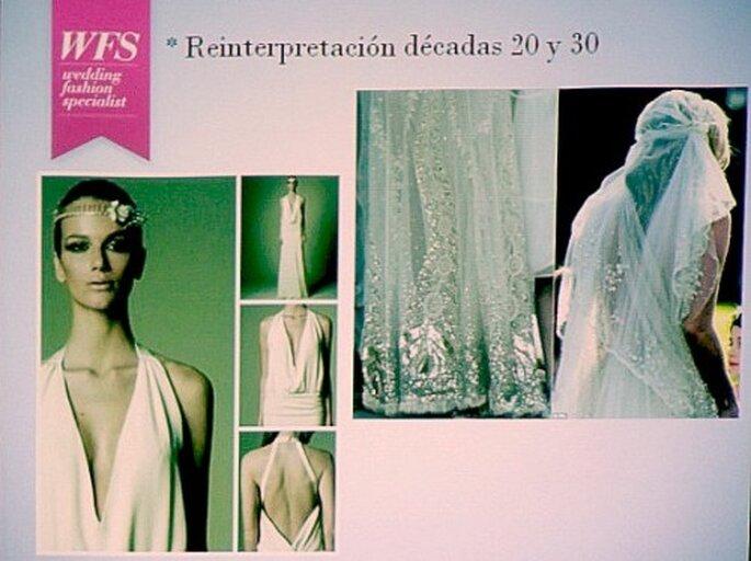 Vestido de novia en los años 20 y actual - Foto Zankyou MX