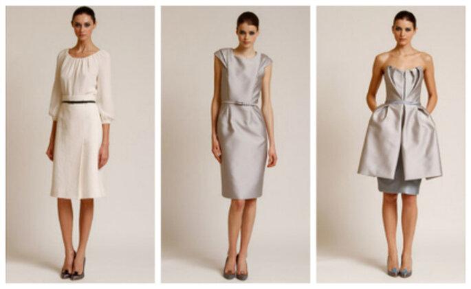 Estos vestidos cortos también pueden ser para una novia Carolina Herrera 2012