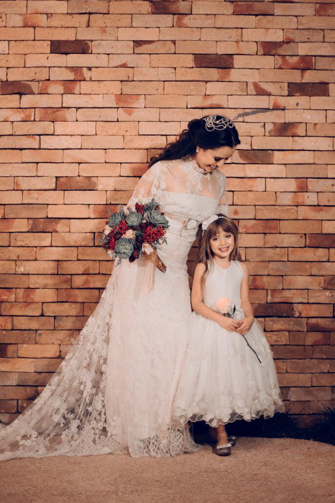 Preparativos da noiva e daminha