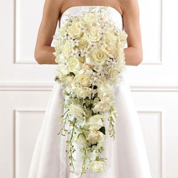 Ramo de novia largo triangular