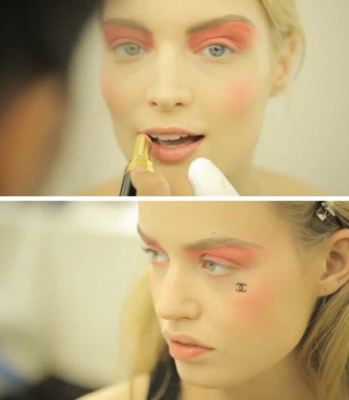 Maquillaje en color durazno para novias - Foto Chanel Cruise 2013