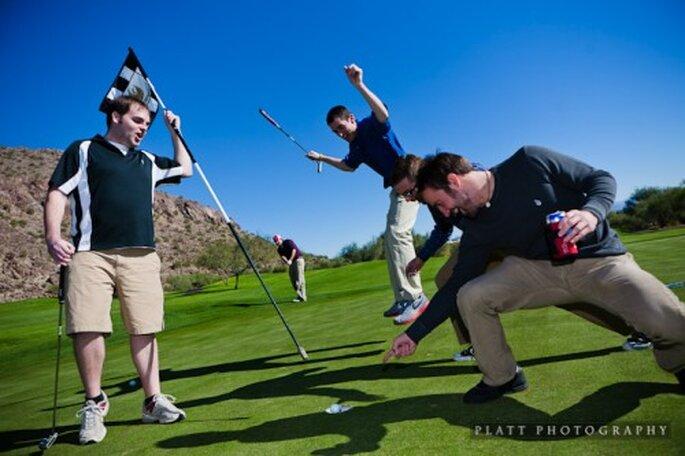 Una tarde de golfo con los padrinos del novio - Foto Platt Photography