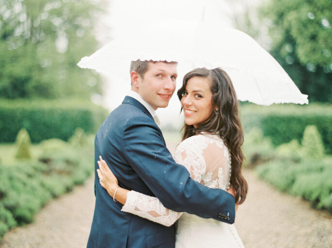 casamento chuva