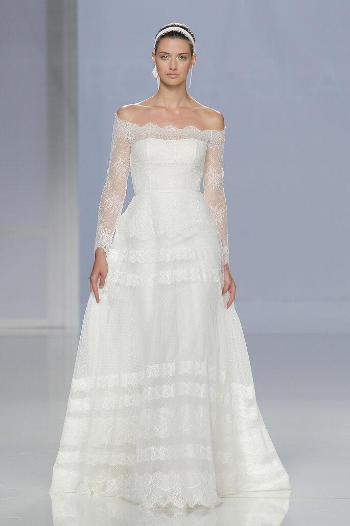 Vestido: Rosa Clará I Foto: Barcelona Bridal Fashion Week