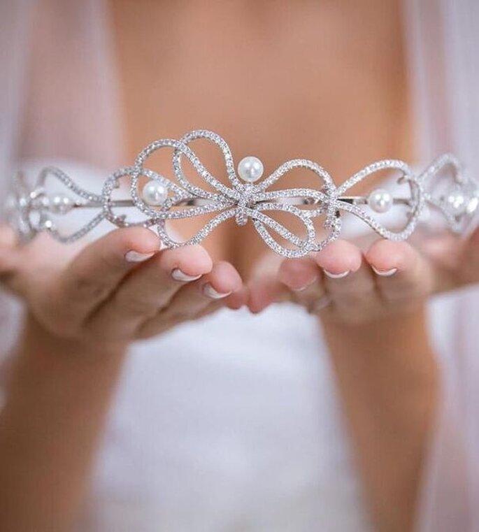 coroa noiva com perola