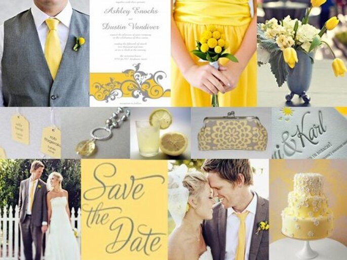 Yellow and Gray weddings from The Perfect Palette