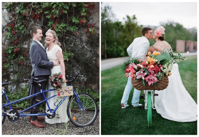 Decoración de boda con bicicletas - Foto Craig & Eva Sanders Photography y Jose Villa
