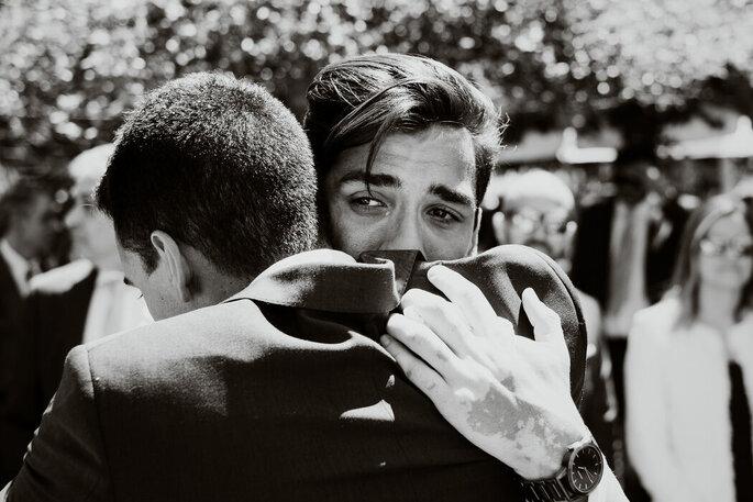 Momento emotivo do noivo
