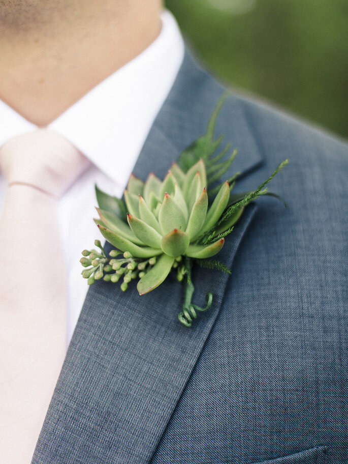 Una boda exótica decorada con cactus y suculentas - Krista A. Jones