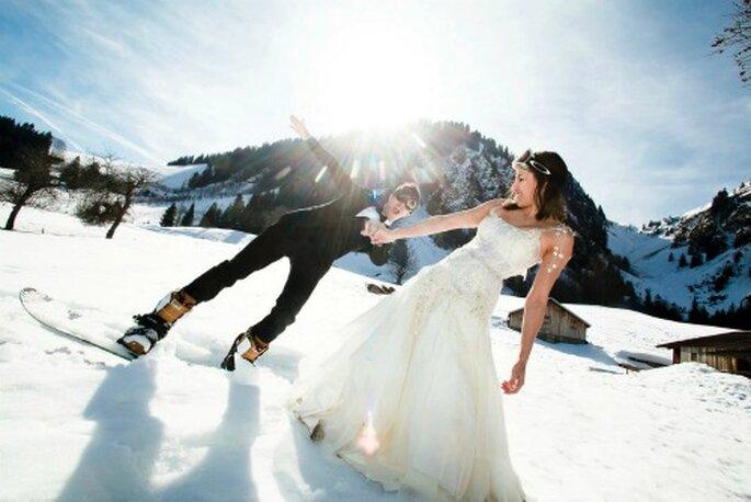 Mariage en hiver. - Crédit photo : Thierry Laforets pour Mars et Venus MARIAGES