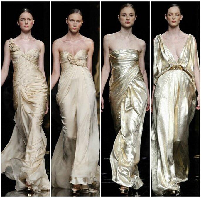 Les robes de mariée dorées Rosa Clara 2012. Photo : Rosa Clara