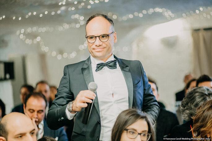 Al microfono Giuseppe di Francia, proprietario di CapoSperone Resort Foto: Francesco Caroli Wedding Photographer