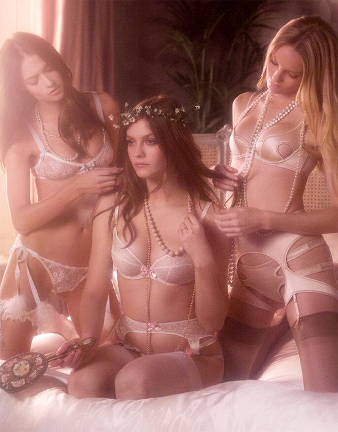 Estilos de lencería sensual para novias - Foto: Agent Provocateur