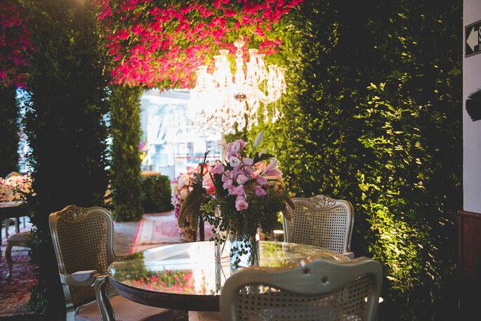 decoração casamento jardim suspenso