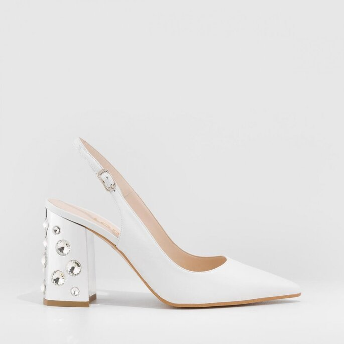 zapato de novia blanco