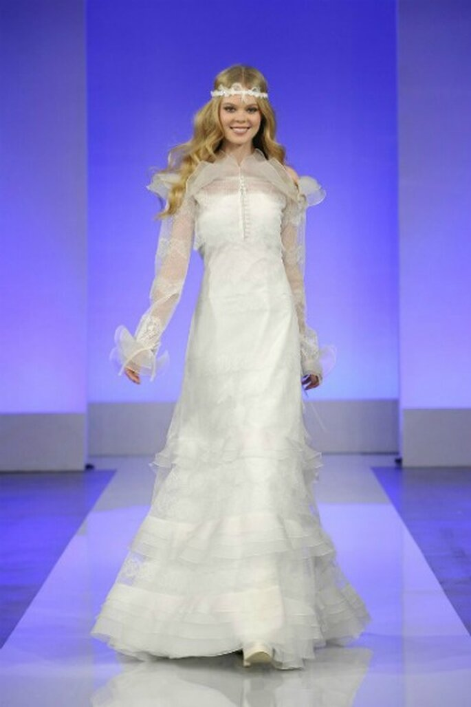 Robe de mariée Cymbeline 2013 La Parisienne, modèle Gisele - Photo : Cymbeline